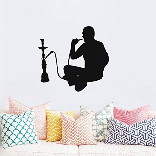 Wandaufkleber Schlafzimmer Shisha Shop Aufkleber Mann Aufkleber Shisha Smoking Smoke Arabisch Aufkleber Kunst Wandbild für Wohnzimmer