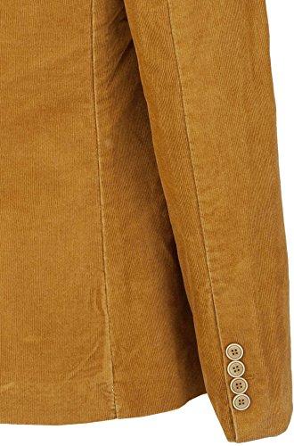 YAKE by S.O.H.O. NEW YORK Sakko Herren Slim Fit - Blazer Herren Sportlich - Cord Jacke, Brighton Cognac_002