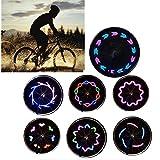 HITOP Light Fahrrad Licht 7 LED Vollfarbige Rad Speichen Wasserfeste