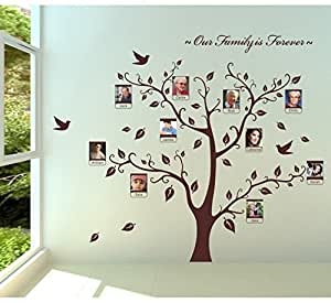 ... Loving You Family Photo Frame Picture Frame Tree Wall Sticker With  Flying Bird Wall Part 87