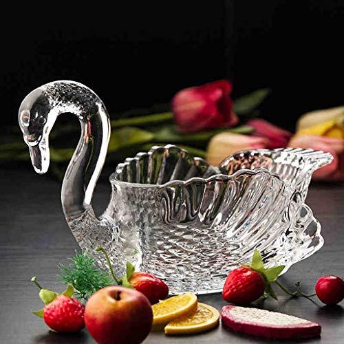 CXQ Europäische kreative Wohnzimmer Home Swan Dekoration Obstteller Candy Dish Swan Candy Dish