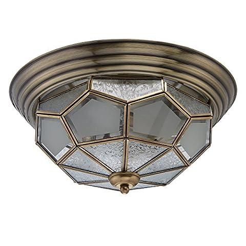 Verre Style Maison - Plafonnier luminaire de style maison de campagne