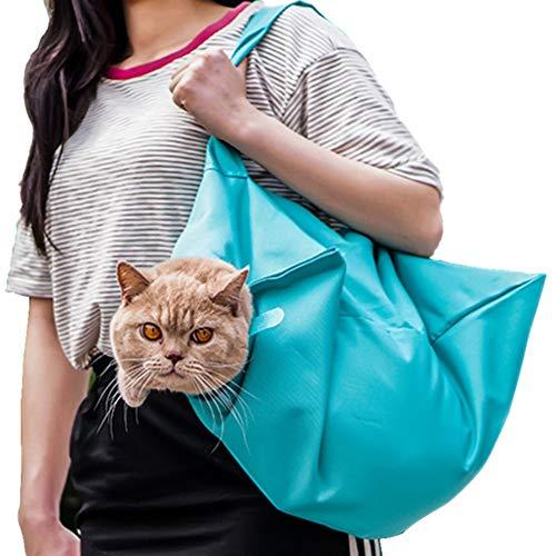 XIAMUSUMMER Katzen Transporttasche Tragbare Tragetasche Reise für Kleine Haustiere, Umhängetasche Nagel Clipping Reinigung Pflegetasche