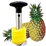 Semoss 3 in 1 Sbuccia Ananas Taglia Slicer Pela Snocciolatore e Affettatrice,Acciaio Inossidabile