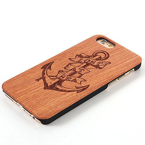 iphone SE Cover, G-i-Mall Ultra Sottile Vero legno Hard Back Wood Custodie Protettiva PC Bumper Cover Caso Per Apple iphone 5 5S SE Smartphone Shell - Wooden Cover#6 Wood Cover #12