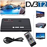 B-black® DECODER DVB T2 NUOVO STANDARD 2018 T2 MINI DVB H264 USCITA VGA HDMI REGISTRA USB 1080P