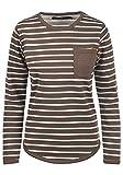 BlendShe Christin Damen Sweatshirt Pullover Sweater Mit Rundhalsausschnitt Und Fleece-Innenseite, Größe:L, Farbe:Mocca Mix (70816)