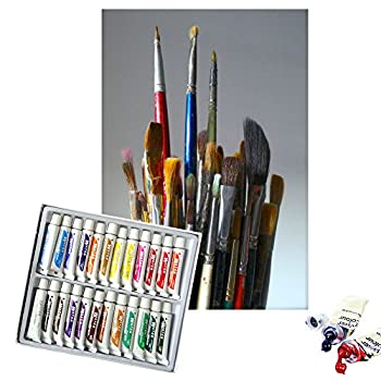 Daveliou Oil Paints Set – 12ml X 24 Colour Paint Tubes – Non Toxic Painting Kit For Beginners Students & Artists 3