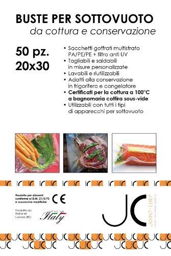 Briefumschläge für Vakuum-Kochfeld und Erhaltung 20x 30cm. -