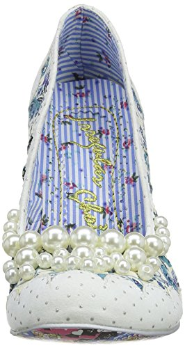 Irregular Choice Pearly Girly, Escarpins femme Blanc (White)