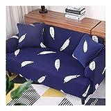 WUFANGFF Feder Muster Sofa Abdeckung Eins Polyester Full Package Elastizität Maschinenwäsche Langlebig Staubdicht, 1 Sitz