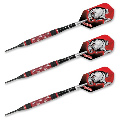 dart-world-piranha-red-criss-cross-cut-soft-tip-tungsten-dart-set-18g