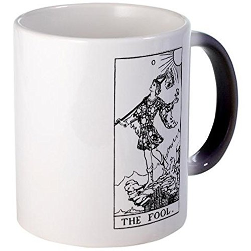CafePress–The Fool Rider-Waite Tarot–taza, Black Color Changing, small