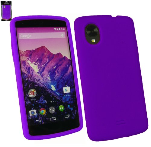 Emartbuy® Silicon Skin Cover Case Purple For LG Google Nexus 5  available at amazon for Rs.149