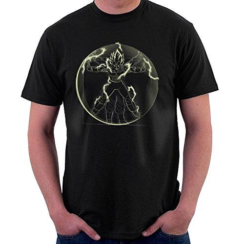 Vitruvian Saiyan Vegeta Dragon Ball Z Men's T-Shirt