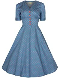 Lindy Bop 'Ionia' 1950's Robe, Rockabilly Pinup Shirt Dress