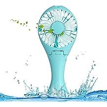 dewenxi Tech® La Bella Agua Nixe Ventilador con humanisiertem Mango, USB mini plegable Fan, inclinable para el escritorio, mesa ventilador, por el cargador USB, ordenador, red Banco de carga, potente y silencioso ventilador, funcionan con mano Held Mini Fan Para Verano caliente exterior