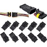 10 Set Steckverbinder Wasserdicht 4-polig Schnellverbinder Superseal Stecker Steckverbindung für KFZ LKW Auto