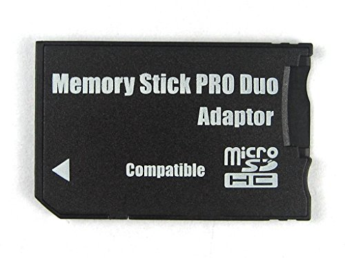 mdanigames Micro SD SDHC TF to Memory Stick Ms Pro Duo Card Reader PSP Adapter Converter