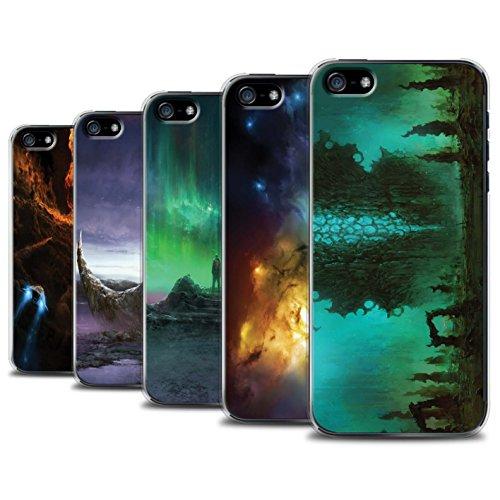Offiziell Chris Cold Hülle / Case für Apple iPhone SE / Pack 12pcs Muster / Fremden Welt Kosmos Kollektion Pack 12pcs