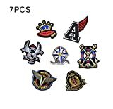 #7: iDream Iron on patches, Assorted Size Iron Embroidery Appliqué Decoration DIY Patch for Jeans Clothing etc (Theme H)