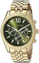 Michael Kors Mens Lexington Gold-Tone Watch MK8446