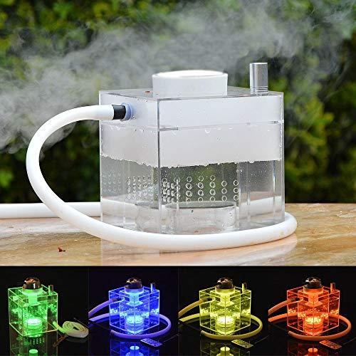 Juego de Cachimba,Micro Cubo Acrílico Moderno Cachimba con Sistema de Control de Calor Shisha Hookah...