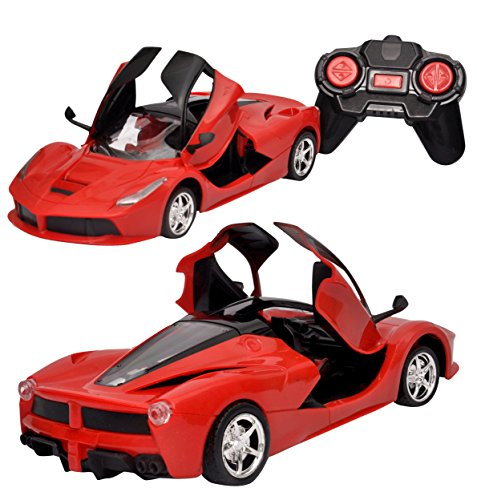Toyshine Remote Control Car with Opening Doors Rechargeable Ferrari Design...