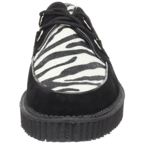 Demonia Rockabilly-Halbschuhe Creeper-600 Zebra