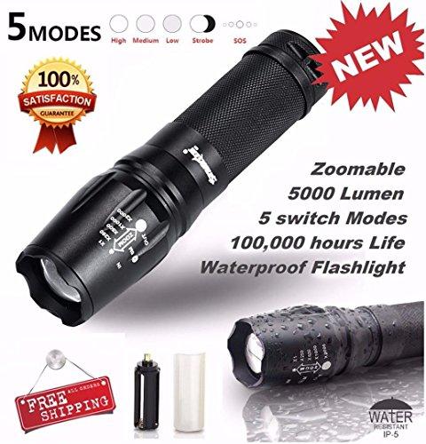 BBring Taktische LED-Taschenlampe G700 SkyWolfeye X800 Zoom Super helle militärische (Super Handschuhe Erwachsenen Wolf)