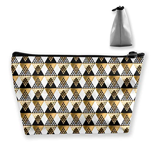 Modern Geometry American Indian Tribal Portable Travel Cosmetic Pouch Storage Makeup Bag Fashion Zipper Trapezoid Purse for Women Men Business Travel - Make-up Tasche Duck Daisy