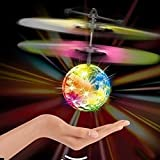 IBUYTOP RC Flying Ball, RC infrared Induction Helicopter Ball Built-in Shinning LED Lighting for Kids, Teenagers Colorful Flyings for Kids Toy Infrared Induction Helicopter Ball built-in shin