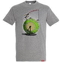 Camiseta El Bucle - Oliver y Benji - Fútbol - Color Gris Vigoré - 100% Algodón - Serigrafía de Alta Calidad