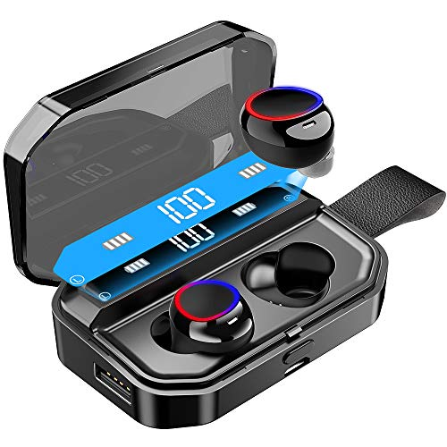 Bluetooth Kopfhörer, Aikove Wireless Kopfhörer Kabellos In Ear Ohrhörer Bluetooth 5.0 Headset mit 4000mAh Ladebox Noise Cancelling Earbuds 160 H Spielzeit,Sport Wasserdicht IPX7 Ohrhörer mit Mikrofon