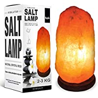 KEPLIN Authentic Natural Pink Himalayan Crystal Rock Salt LAMP, Premium Quality with 1 Year Warranty (2-3 KG)
