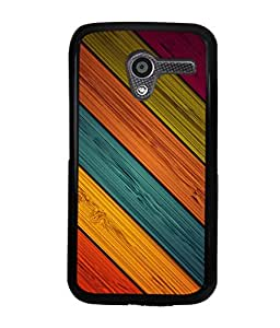 printtech Wooden Colored Streaks Back Case Cover for Motorola Moto X XT1058::Motorola Moto X (1st Gen)
