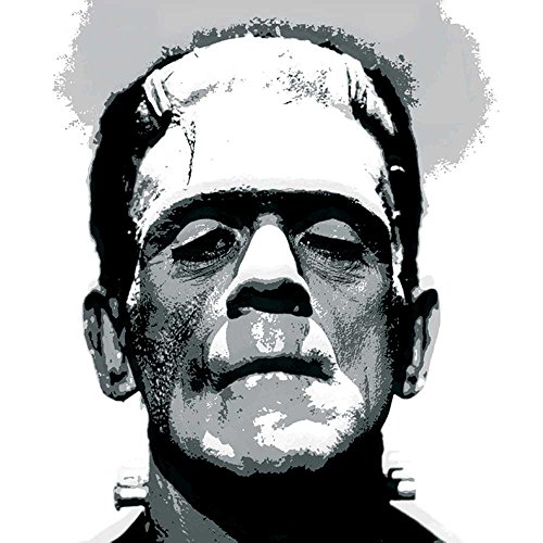 Paperproducts Design Design Frankenstein Getränke Servietten, 12,7 x 12,7 cm grau (Cellophan Halloween)