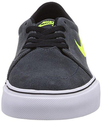 Nike Satire (GS) Jungen Skateboardschuhe Schwarz (Anthracite/Volt-White-Black 032)