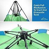Instant Zelt - Innerhalb 1 Minute bereit zum Campen! Instant-(Sofort)-Aufbauweise. Keine Vormontage erforderlich! Wasserdichtes, abnehmbares Fliegengitter, geräumige 2-Mann-Innenkabine -