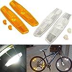 OUTERDO 1 Pair Bike Reflector Wheel S...