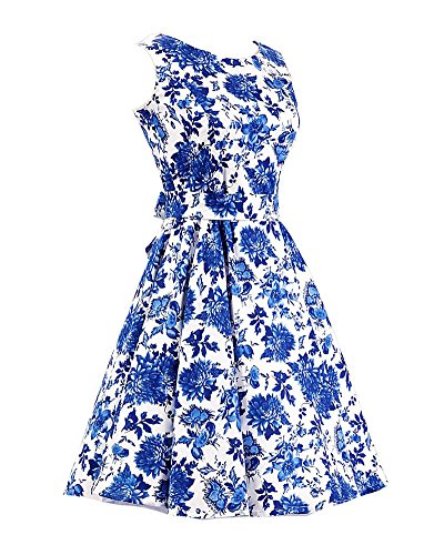 SaiDeng Femmes 50s Cru Style Rockabilly Parti Cocktail Robe Style 3
