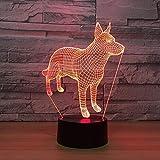 Luce notturna 3d illusione ottica 3D Perni Luci notturne USB Luci notturne colorate Illuminazione per dormire Giocattoli per bambini Regali di Natale Luce notturna 3D