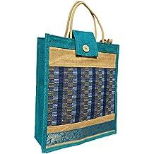 Eco Friendly Jute Lunch Bag -Popular Light Blue Colour
