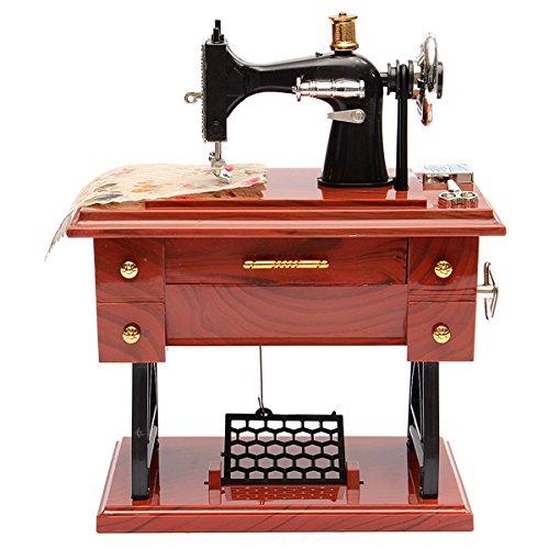 DDOQ Lustig Spieluhr, Pedal Nähmaschine Spieluhr Tisch Schreibtisch Dekoration Kinder Geschenk - Pedale Nähmaschinen