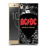 Head Case Designs Offizielle AC/DC ACDC Knopf Pin Logo Ruckseite Hülle für Sony Xperia XA1 Ultra/Dual