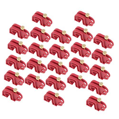 25 Unids Bloqueo de Disyuntor en Miniatura Cerradura de Interruptor de Circuito Candado Universal 8mm...
