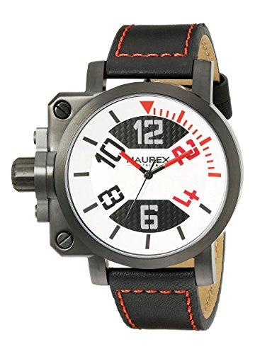 HAUREX ITALY pour homme 6A508urn Pistolet à affichage analogique à quartz Black Watch