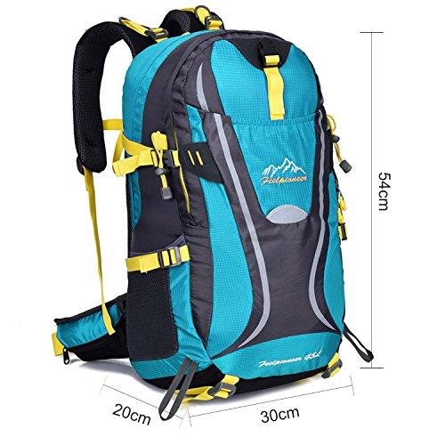 Young & Ming - 45L Unisex Rucksäcke Im Freien Wandern Klettern Freizeit Trekkingrucksäcke Outdoor Taschen Radfahren Reiten Reisetaschen wasserdicht Backpack Blau