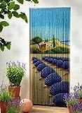 Unbekannt Bambusvorhang Türvorhang Dekovorhang Lavendel XL 115x220cm