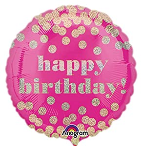 "Amscan International - 3380901 ""Dotty holográfico happy cumpleaños"" estándar Foil Balloon"